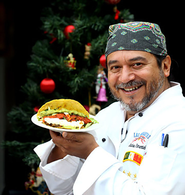 Mexican Andres Pimentel with Tacos